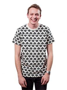 Koszulka w czorne diamenty